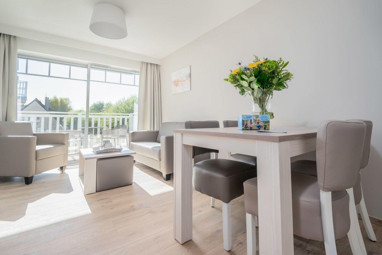Appartement deluxe pour 4 personnes avec chambre à coucher et balcon