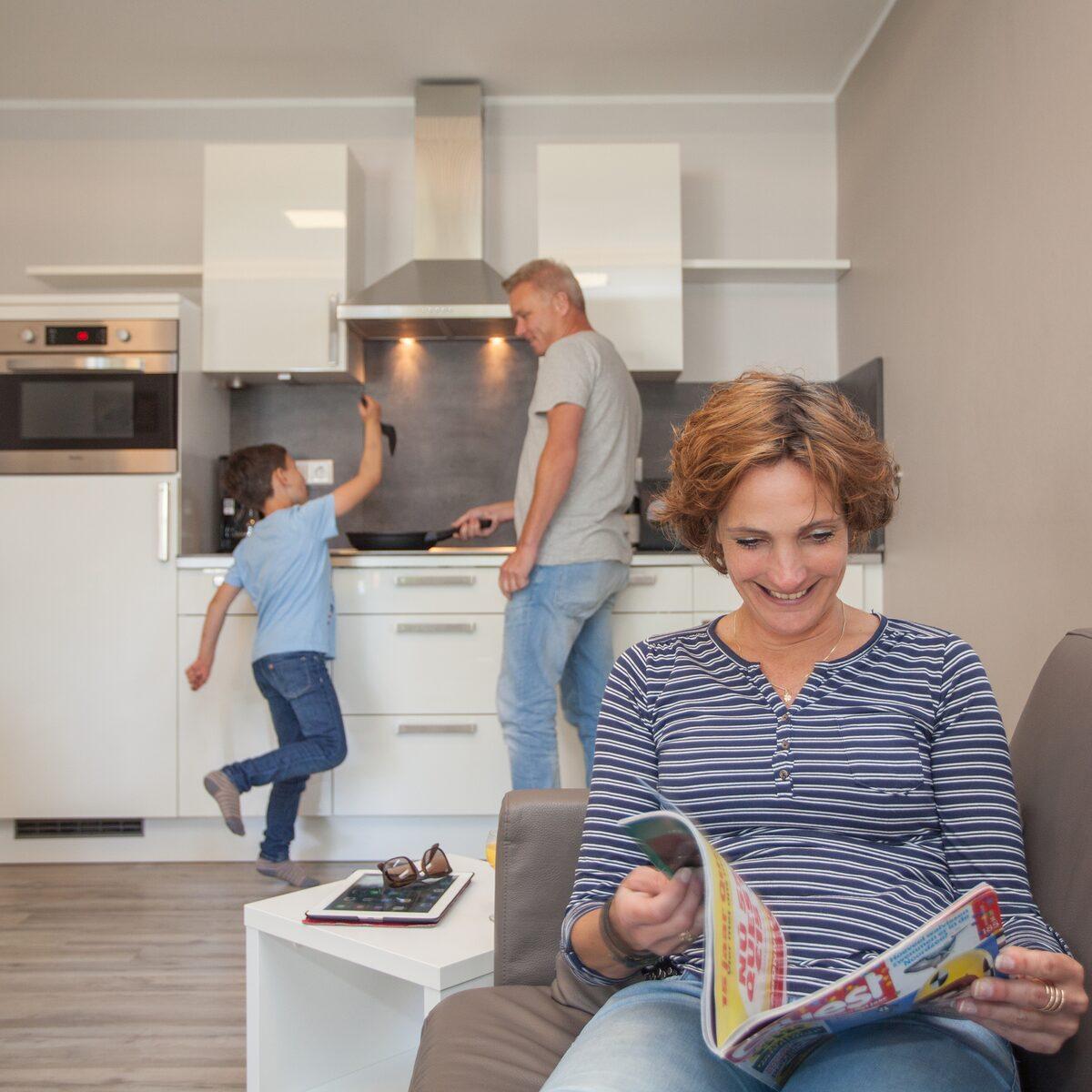 Groepsaccommodatie (3 appartementen) voor 10 personen*