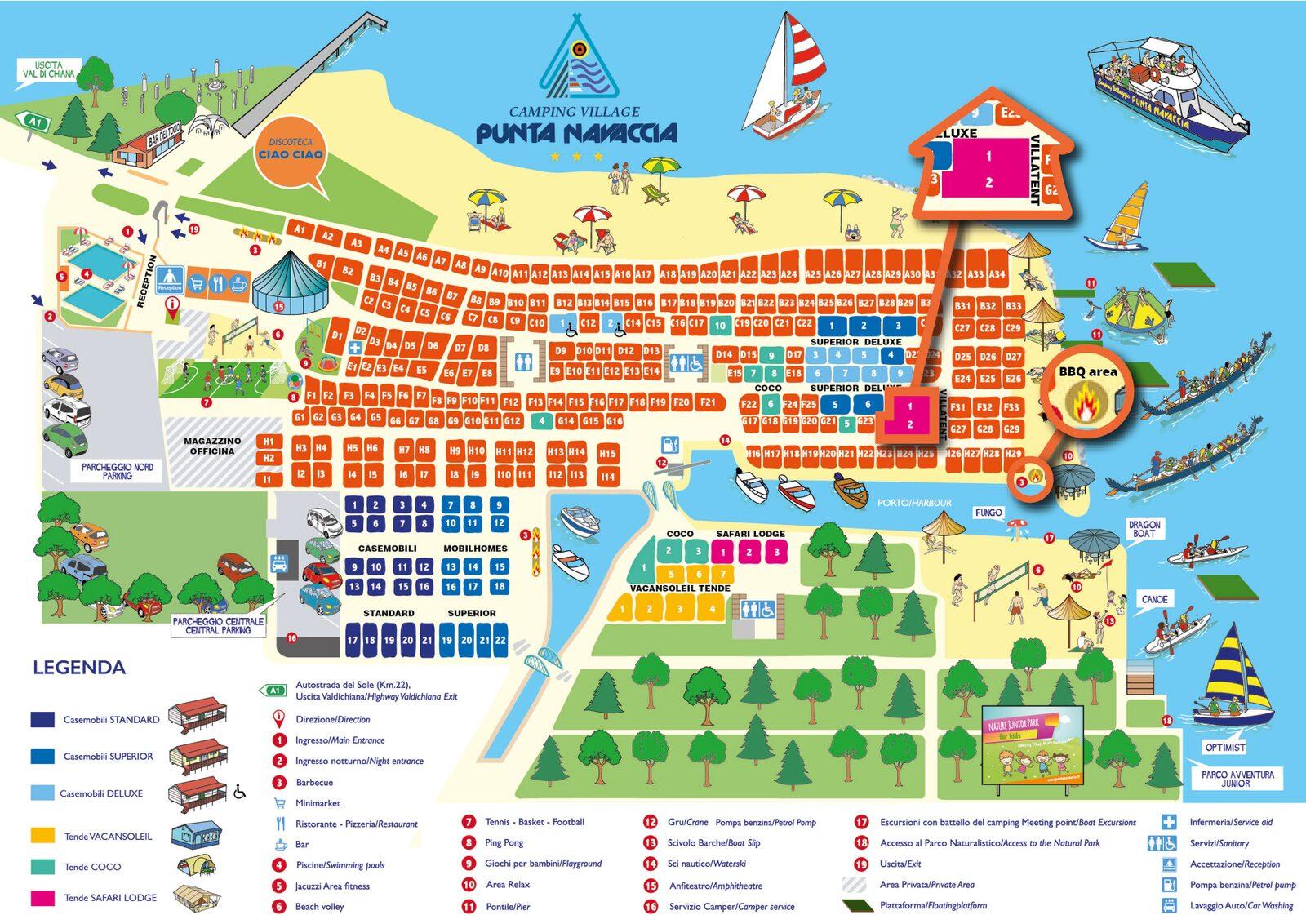 Punta Navaccia | Villatent XL met sanitair | 4 tot 6 pers.
