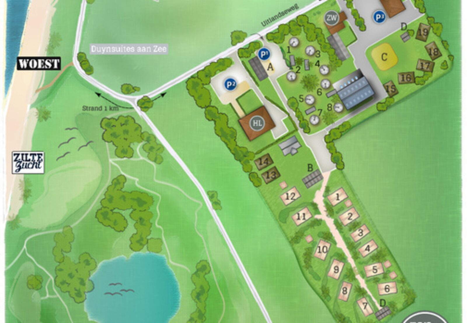 Duynpark het Zwanenwater - Beachlodge