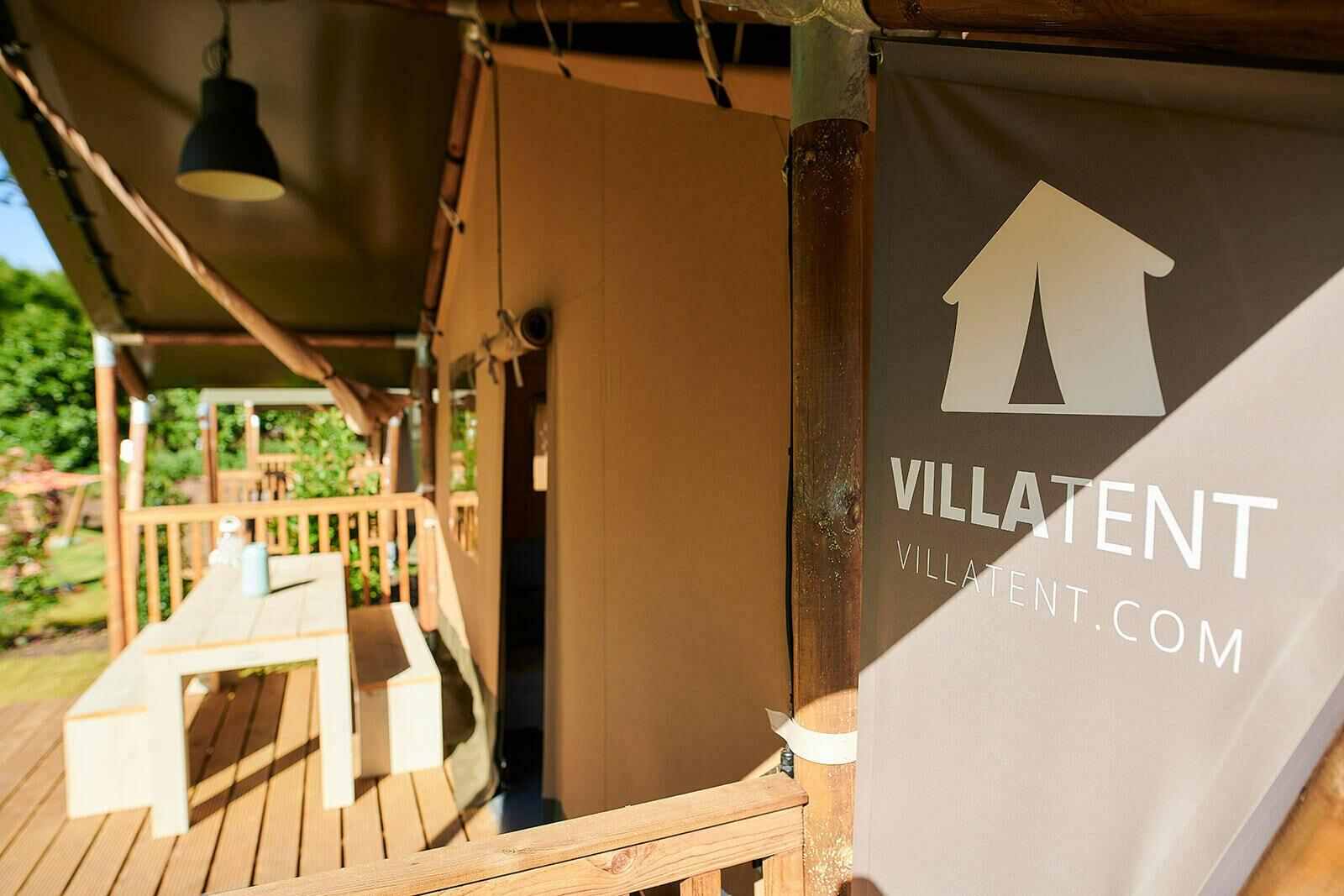 De IJsvogel | Villatent XL met sanitair | 4 tot 6 pers.