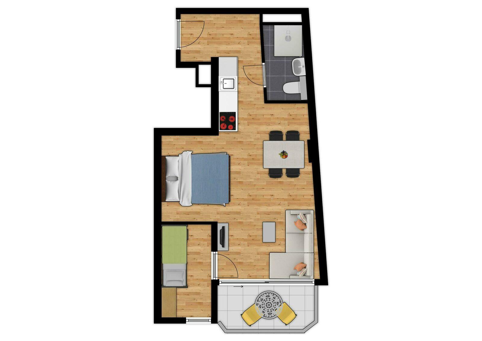 Suite - 5p | Balkon | Zeezicht