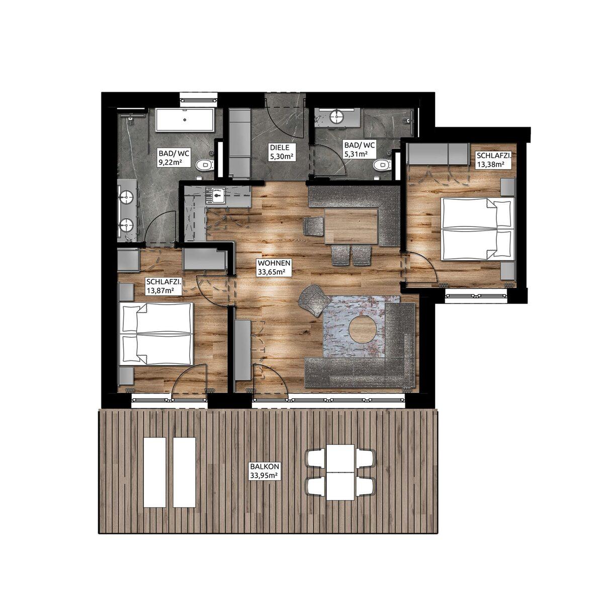Garden Apartment | 4-6 Pers.