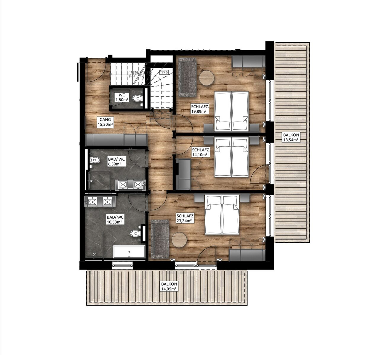 Penthouse Apartment | 6-8 Pers.