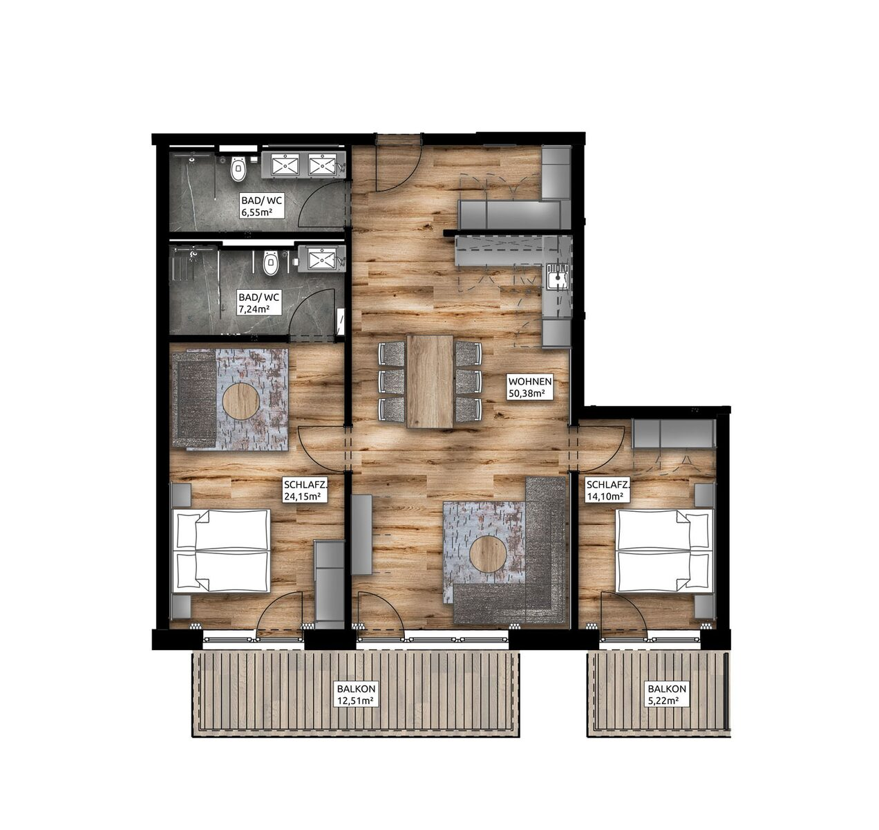 Superior Apartment | 4-6 Pers.