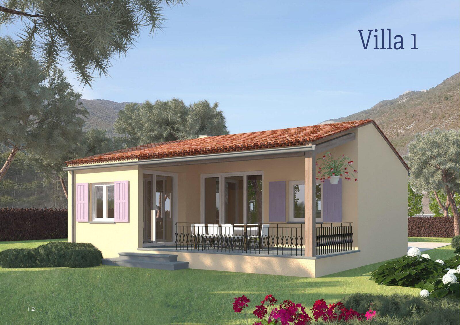 3-Zimmer-Villa für 4-6 Personen