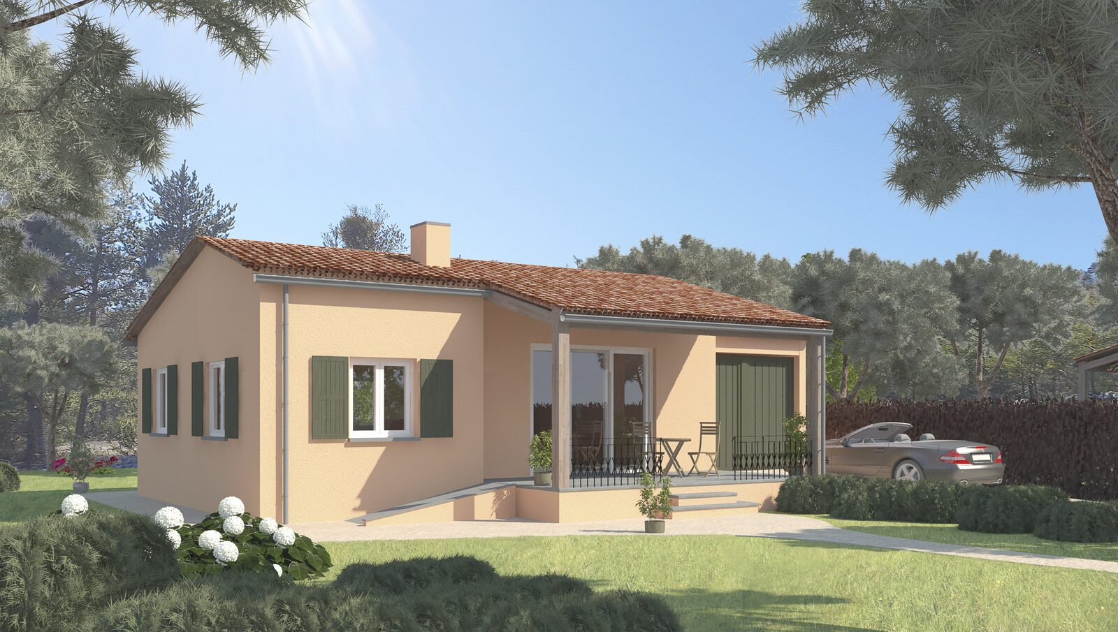 Three-room villa for four persons - type 2