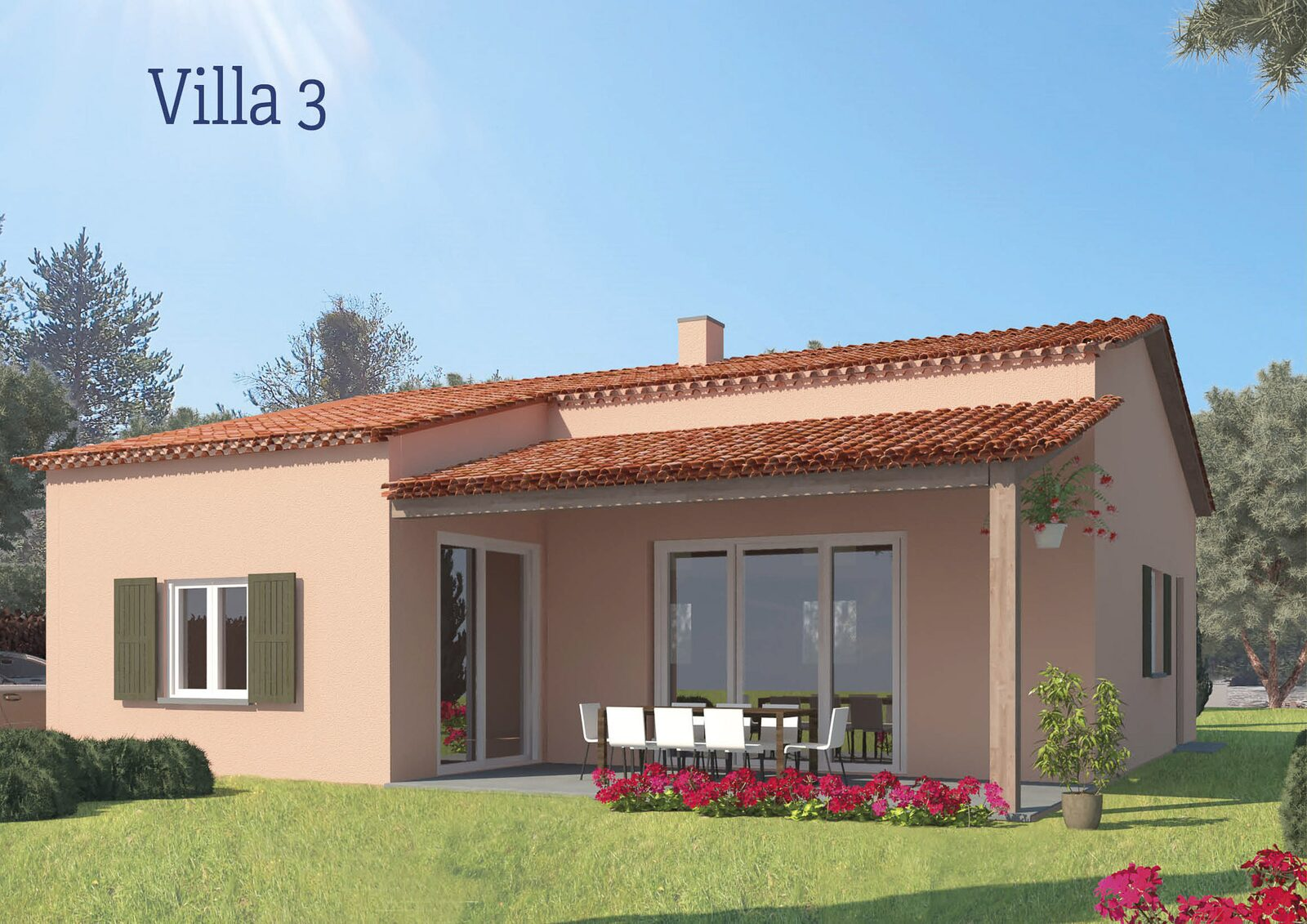 Four-room villa for six persons - type 3