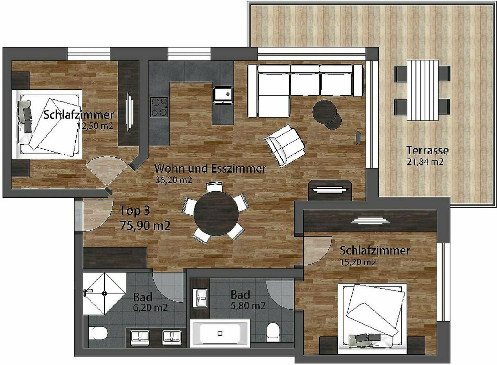 Apartment Residenz North-East | 4-6 Pers.