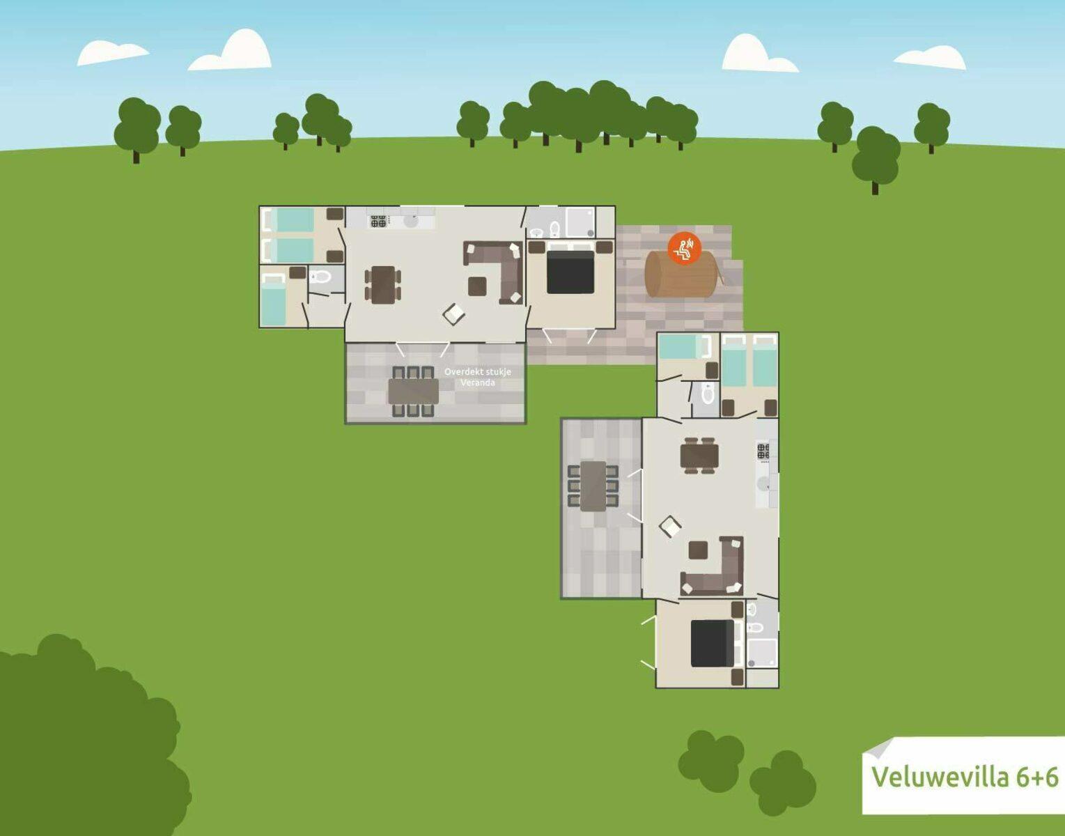6 + 6 person Veluwe Villa