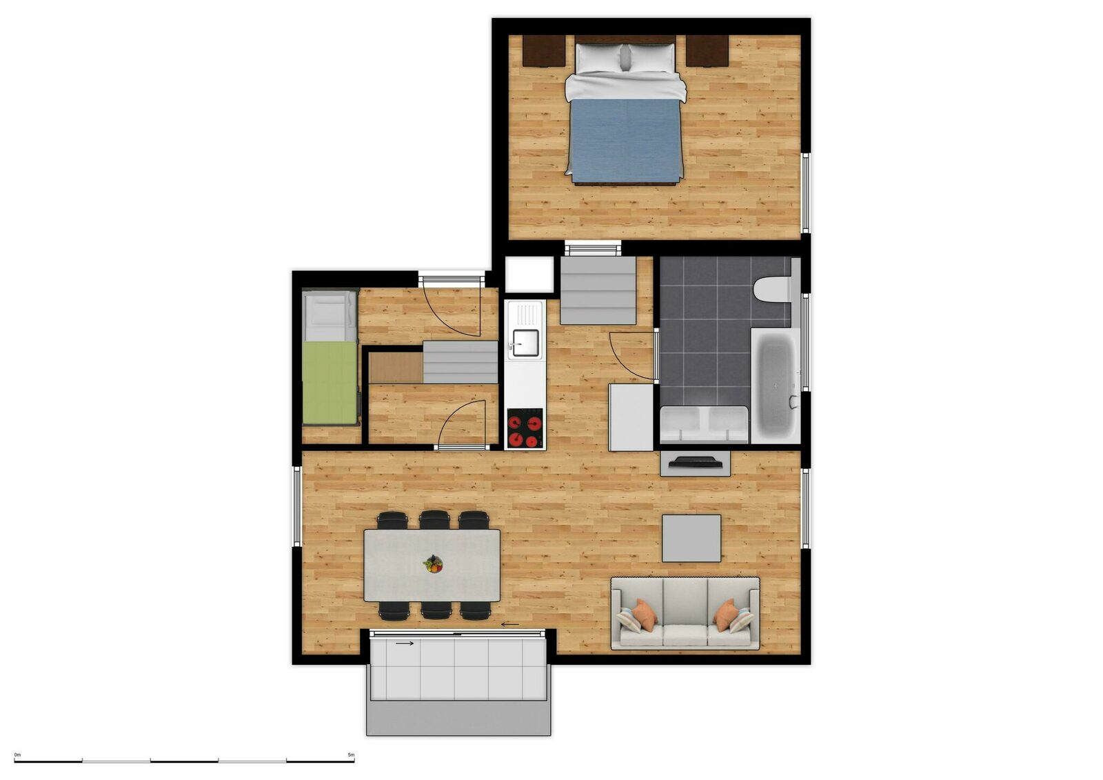Holiday Suite for 6 people