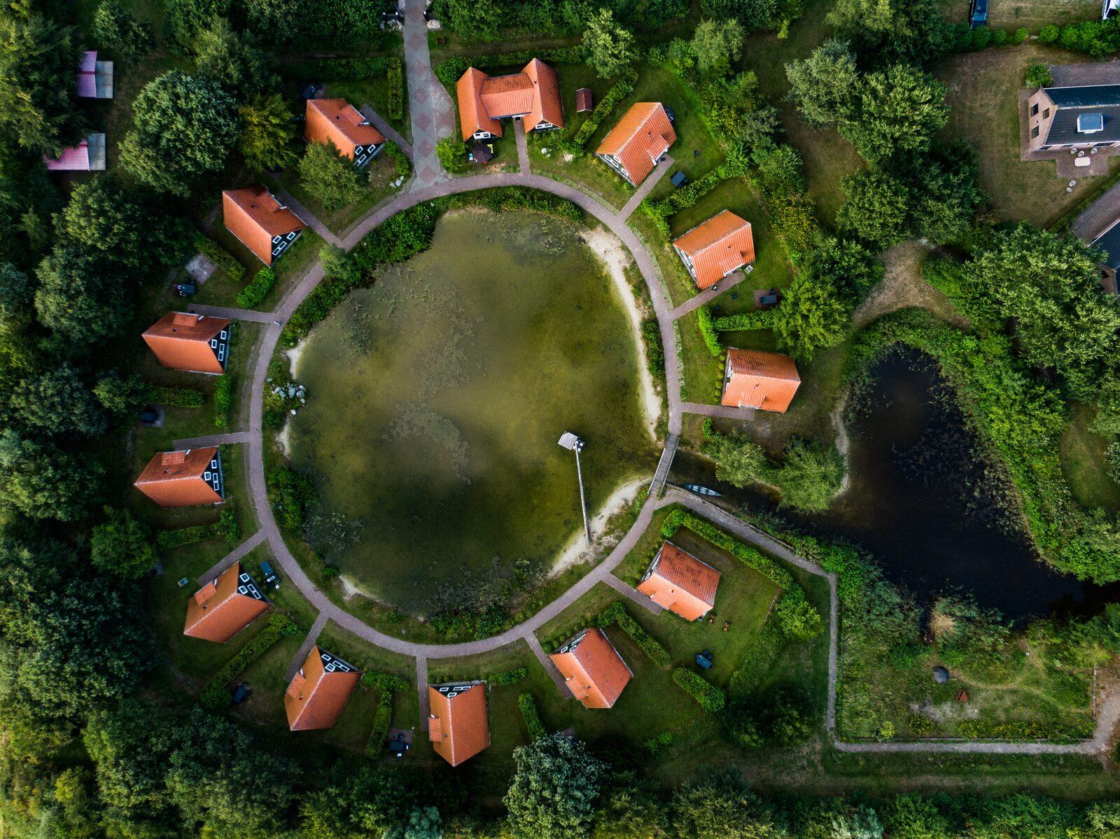 Groepsverblijf combinatie van alle accommodaties op het vakantiepark (206 personen)