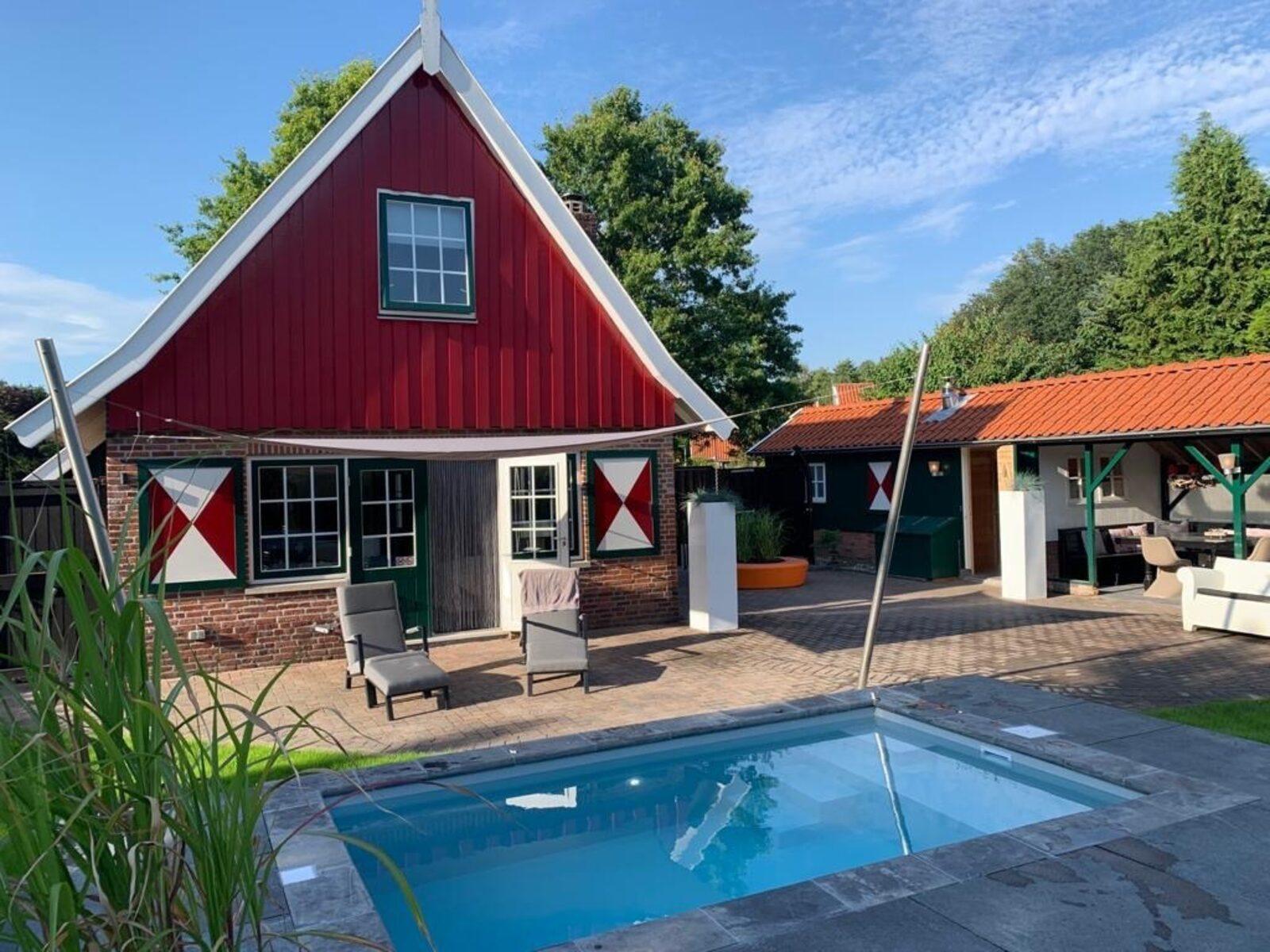 Onthaasten in de Achterhoek - vakantiehuis Madelief met zwembad
