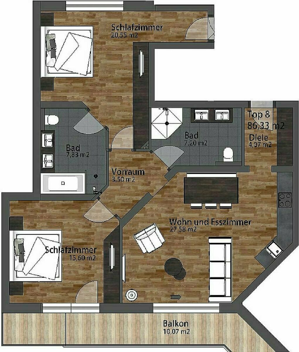 Apartment Residenz | 4-6 Pers.