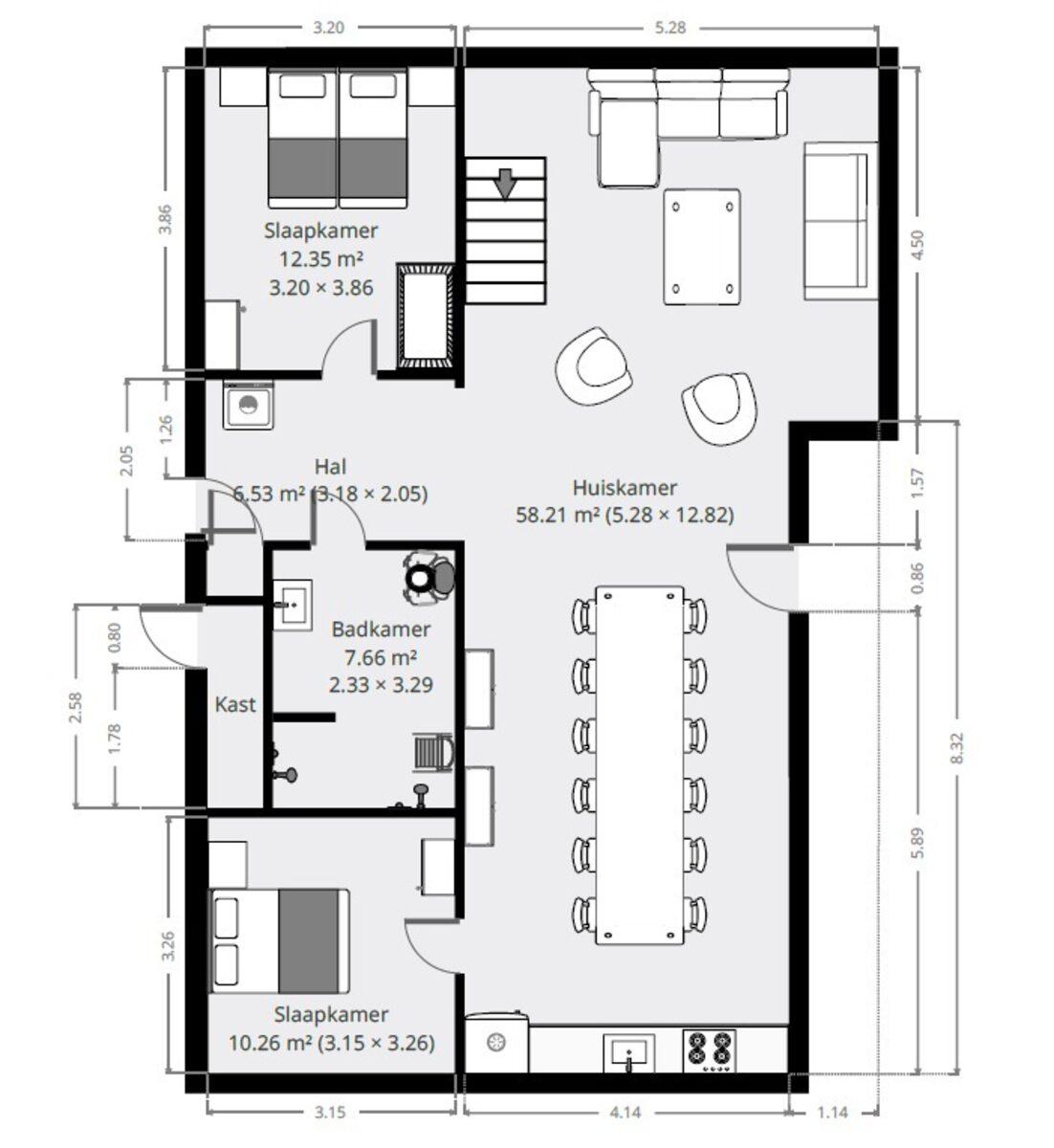 12 pers. XL Bungalow Familiehuis de Stee