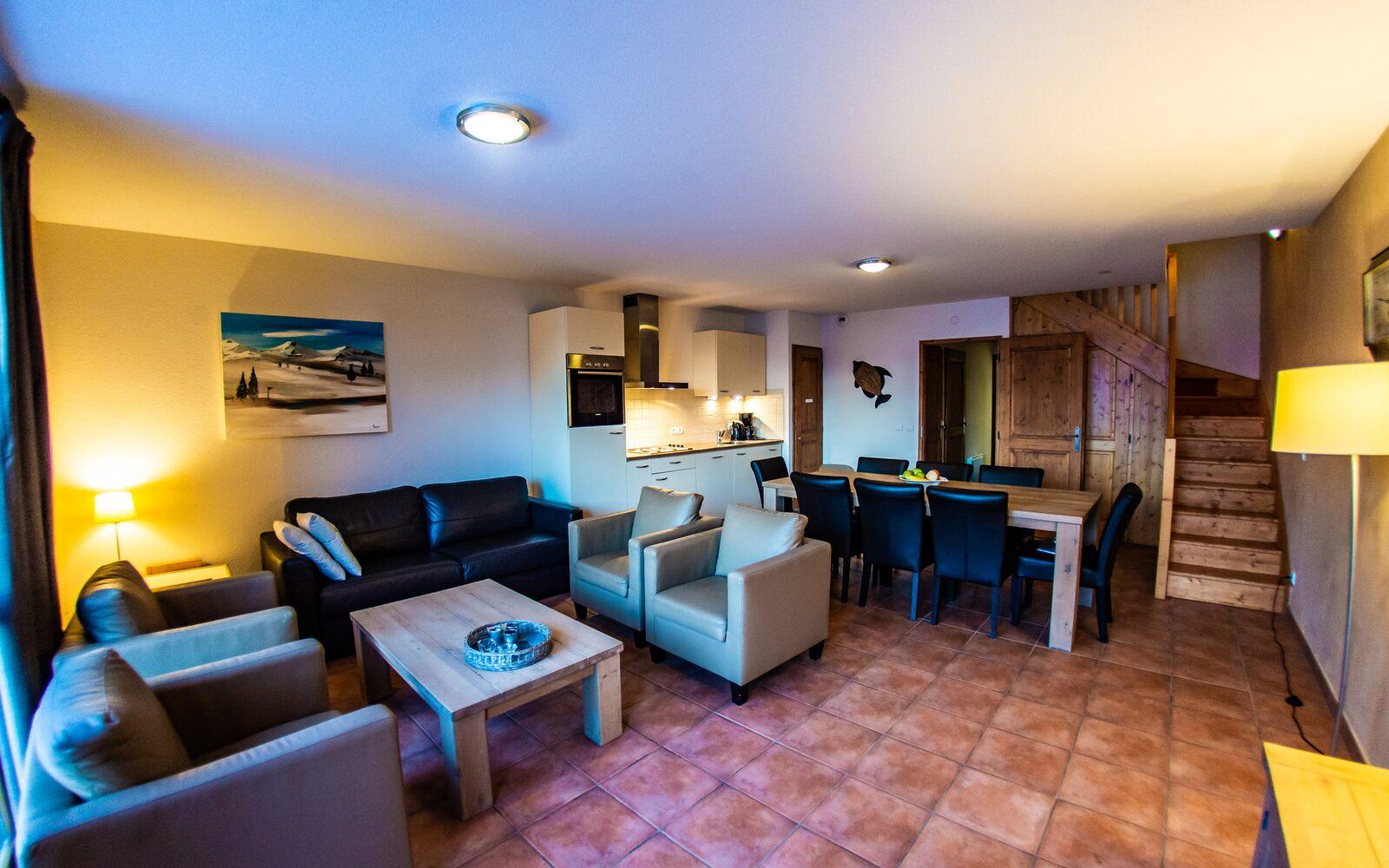 3-kamer appartement + cabine/vide | 8 personen