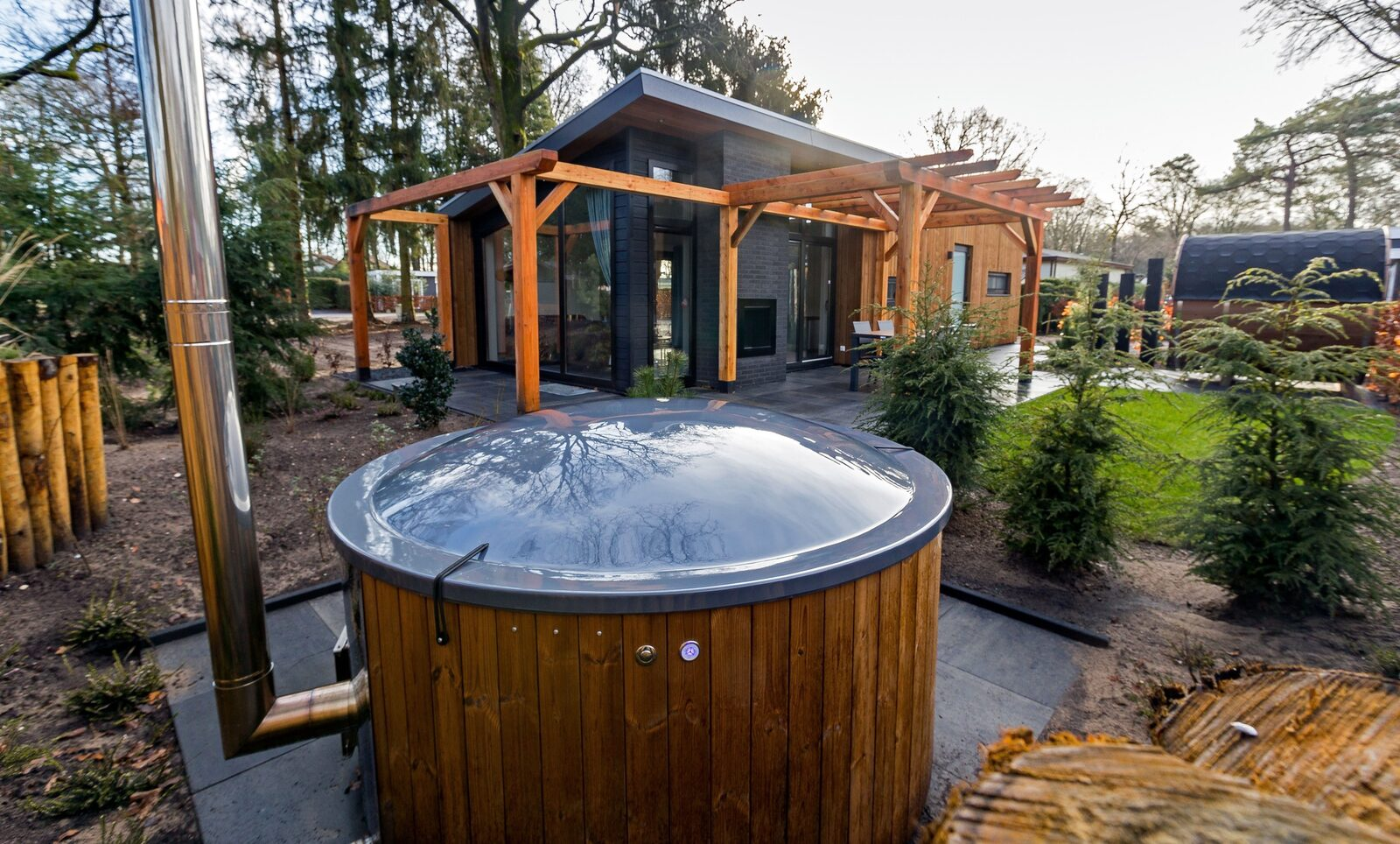 Berken Lodge Eco für 4 Personen (Wellness)