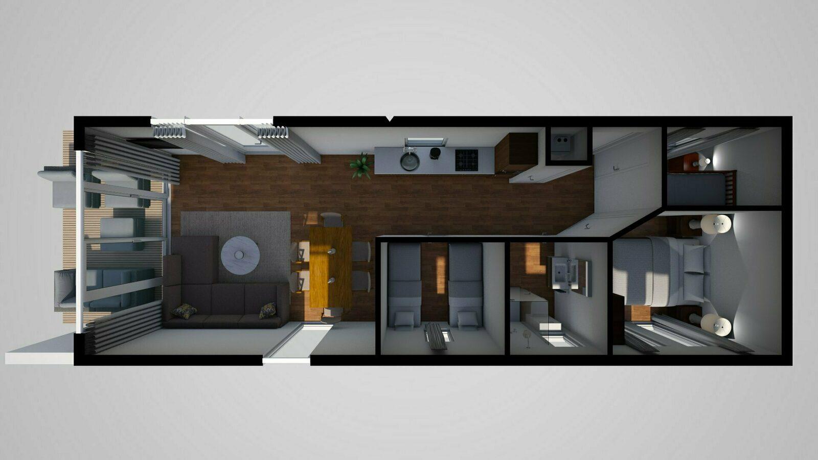 6-Personen-Chalet mit 3 Schlafzimmern