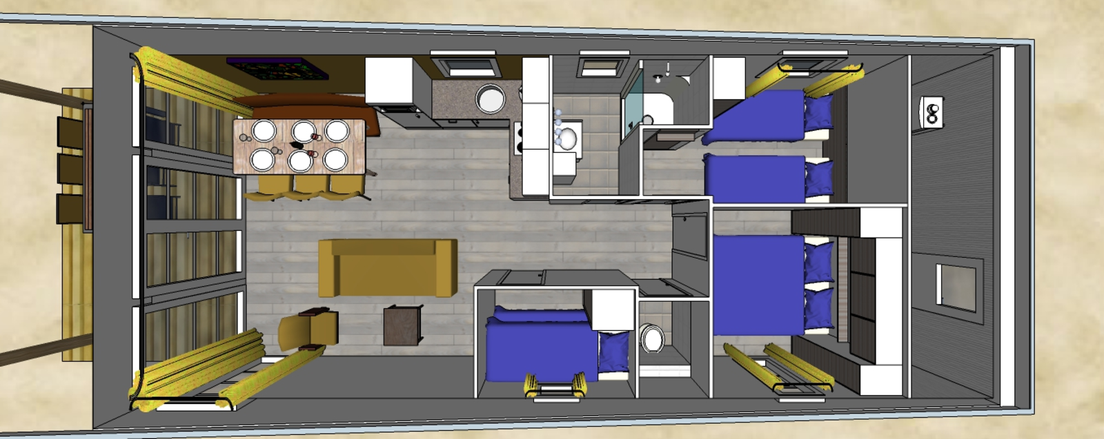 Comfort Lodge | 6 personen - Honden toegelaten (50 m²)