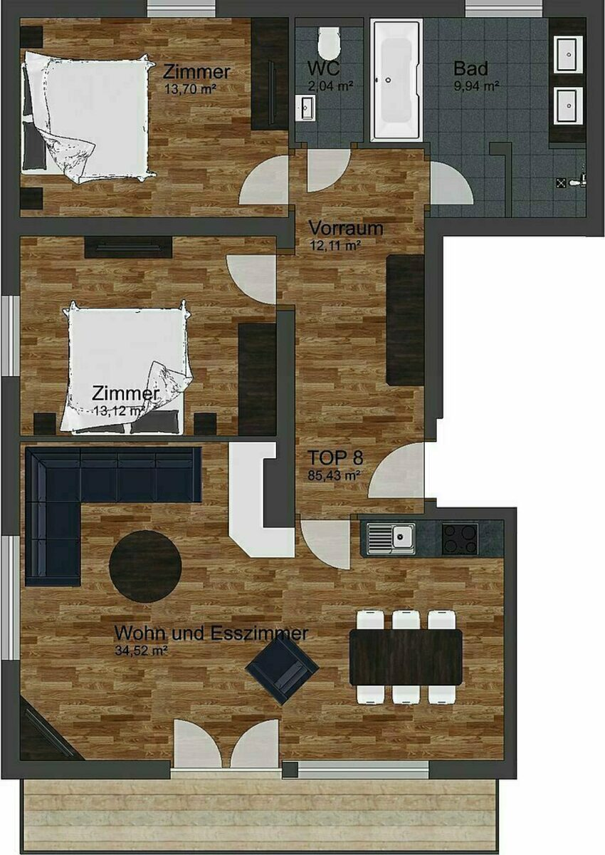 Luxe Appartement | 4+2 Pers.