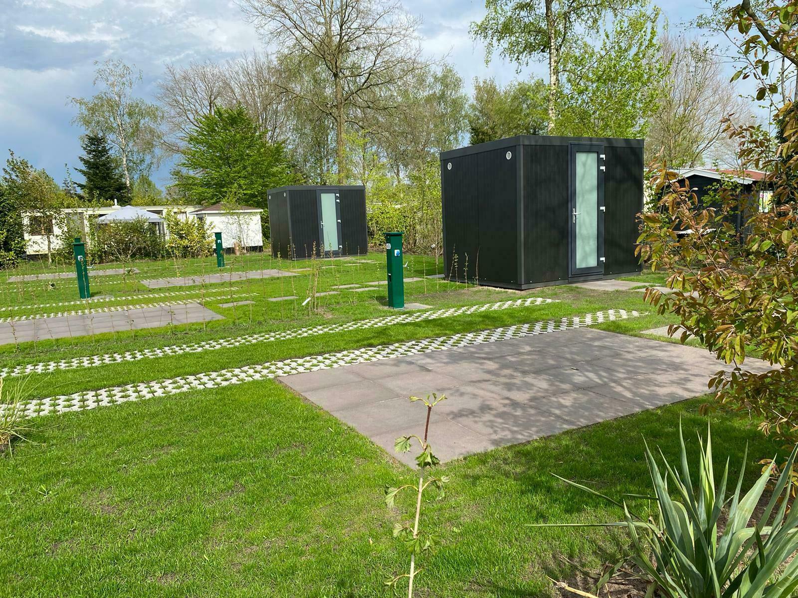 Camperplaats met privé sanitair