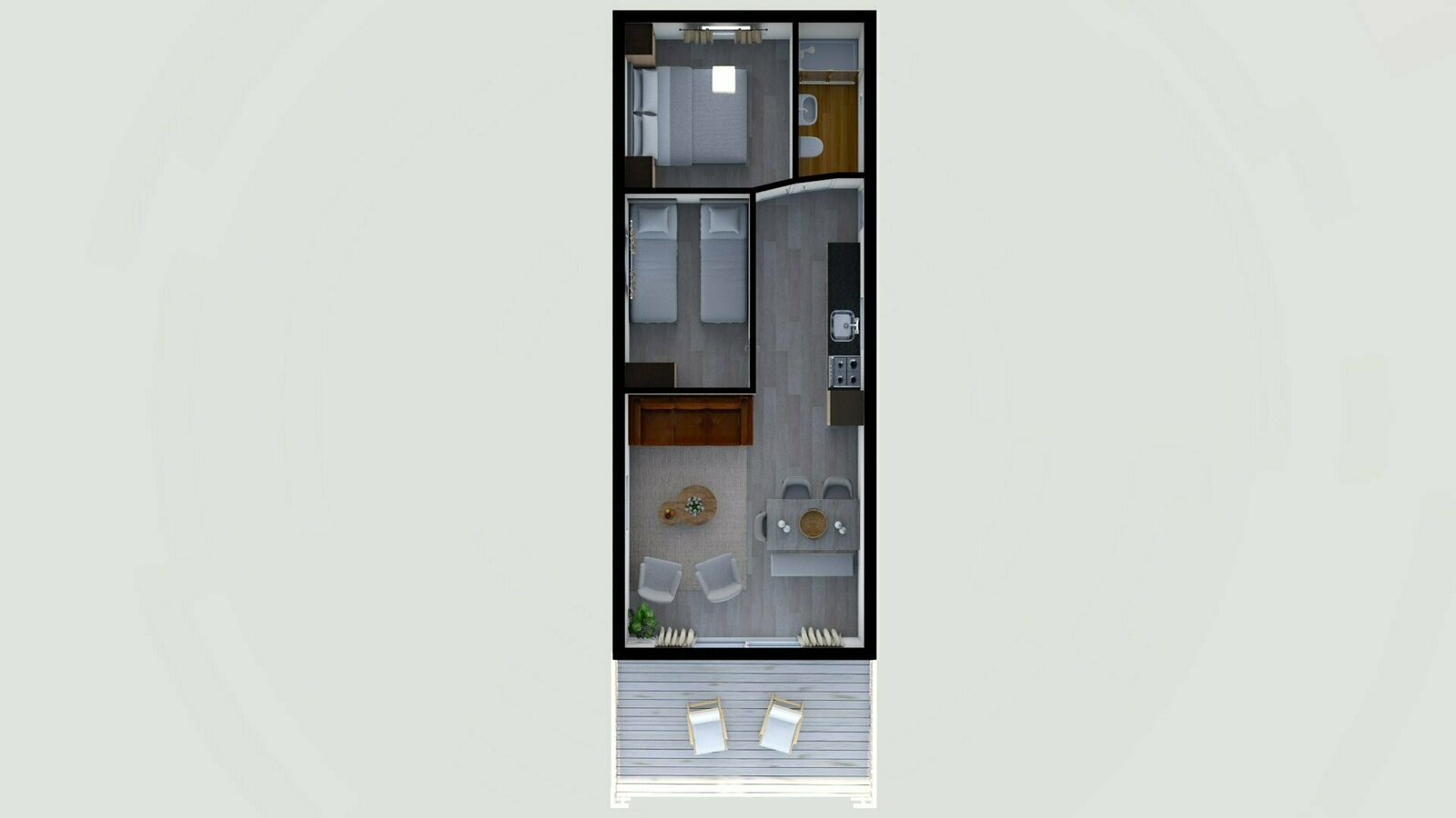 Bungalette 5 personen comfort met veranda