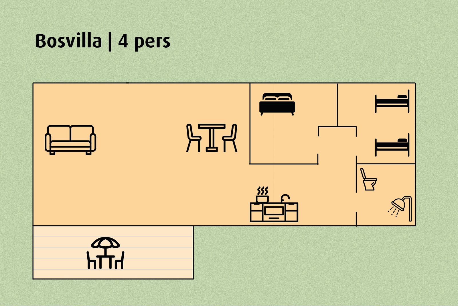Bosvilla | 4 pers.
