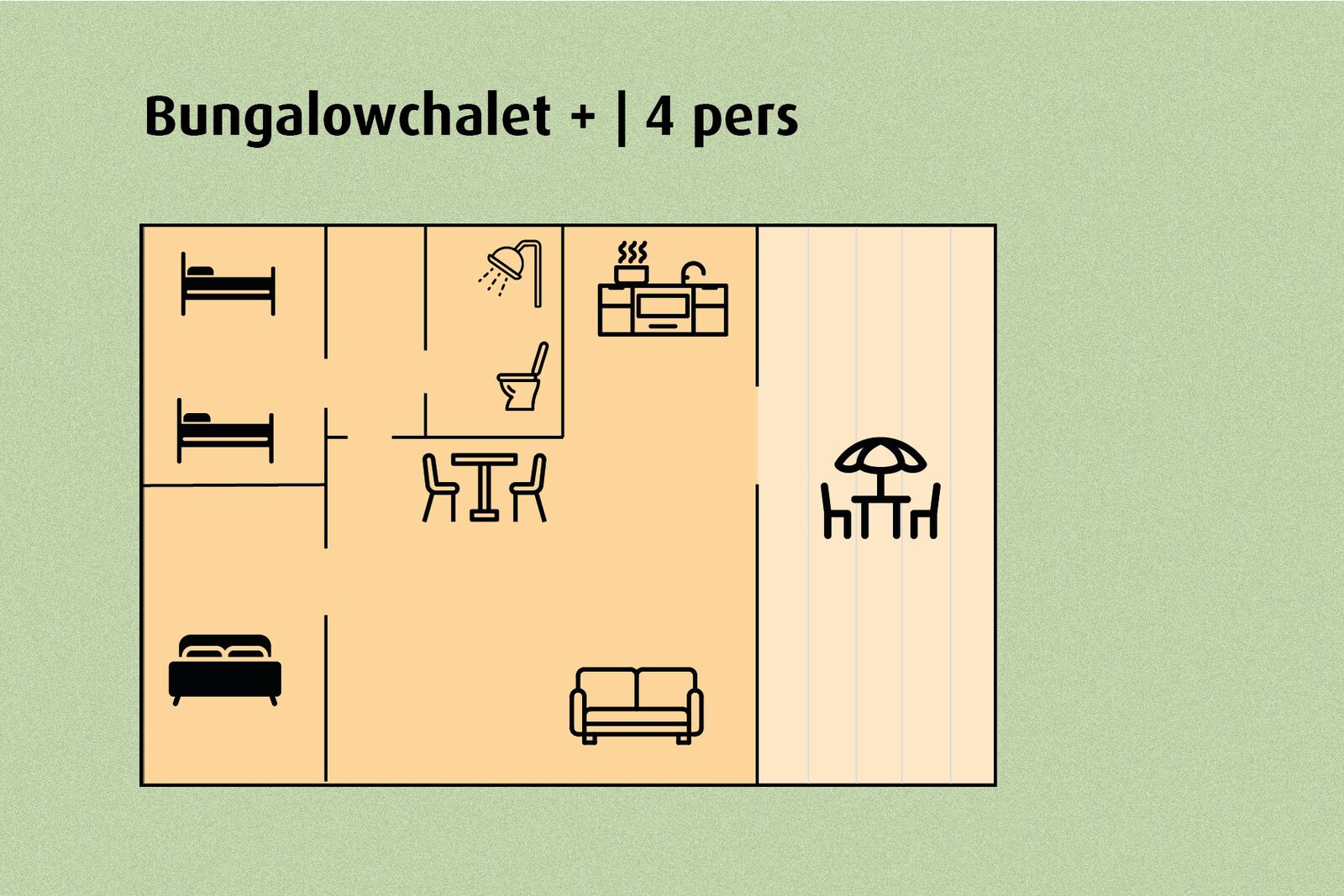 Bungalowchalet+ | 4 pers.