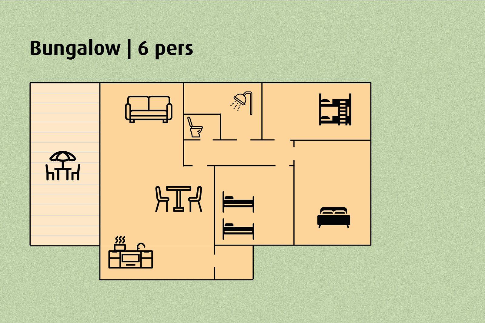 Semi-detached Bungalow | 6 people