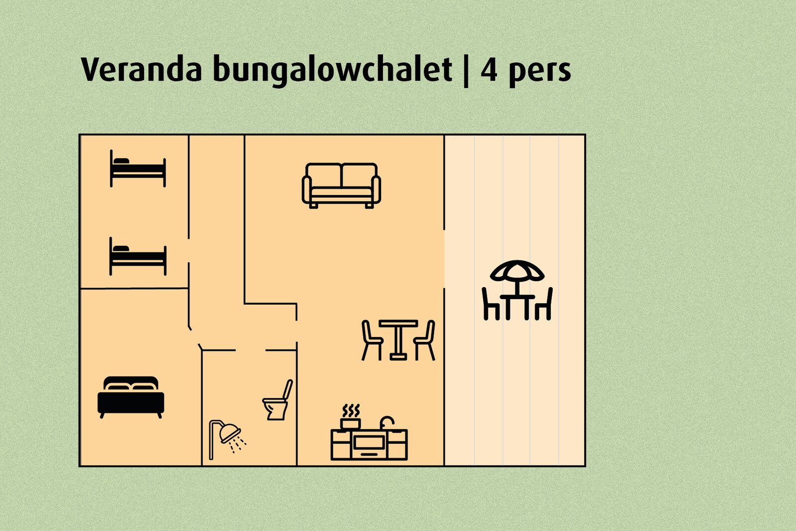 Patio Bungalow Chalet | 4 people