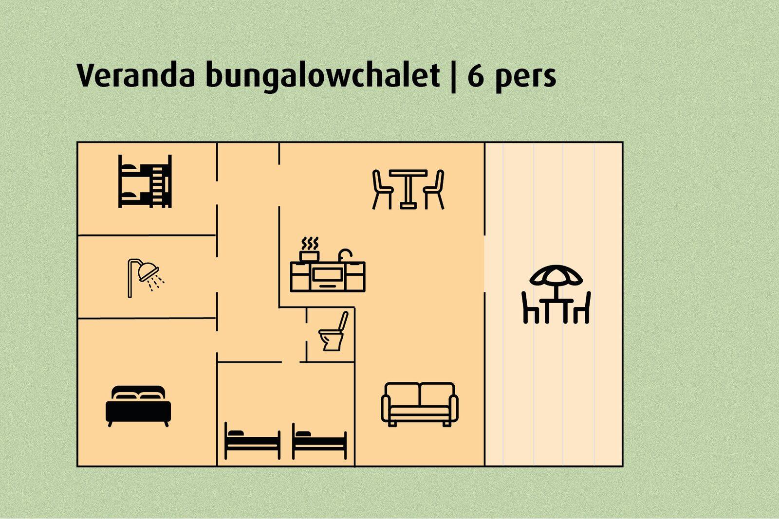 Bungalowhäuschen mit Terrasse | 6 people