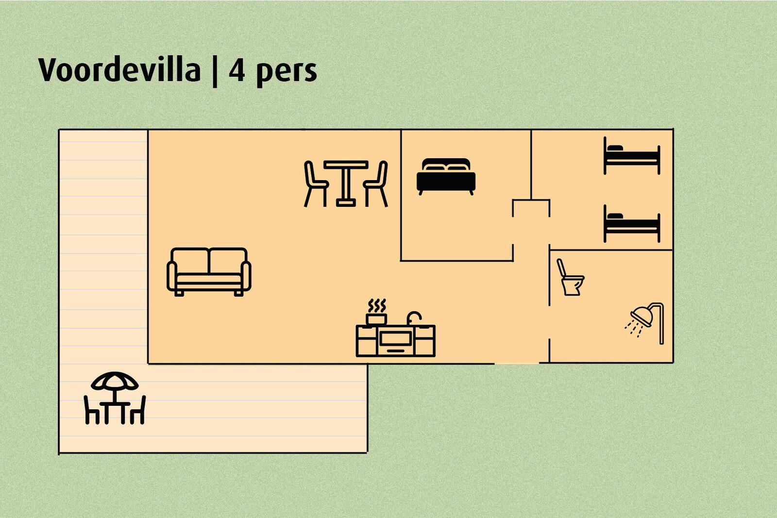 Voordevilla | 4 pers