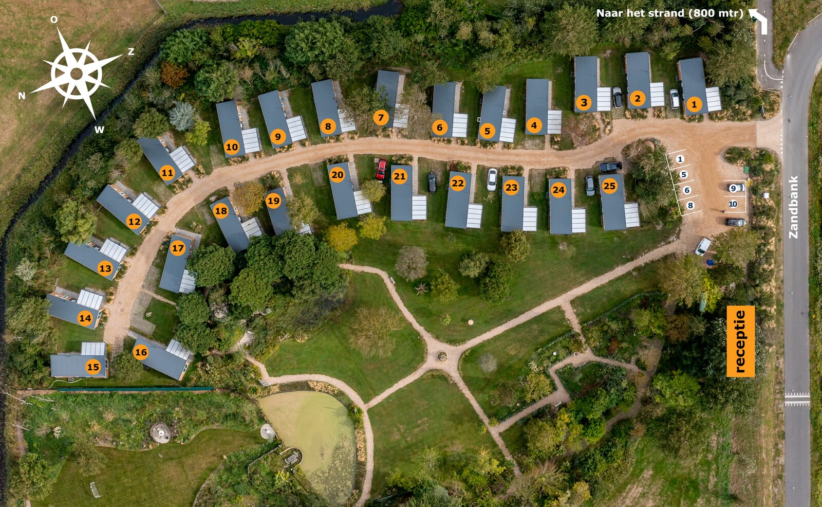 Chalet - Ferienpark Fort den Haak | Vrowenpolder (Haustier erlaubt)