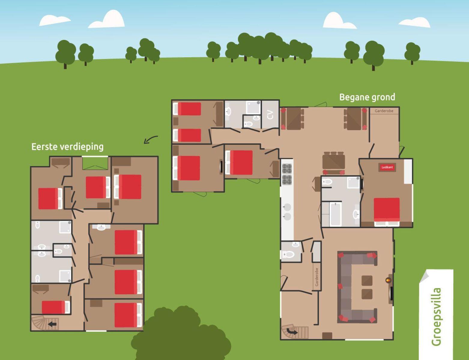 24-persoons Groeps Villa