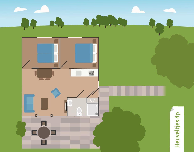 4-persoons bungalow Heuveltjes