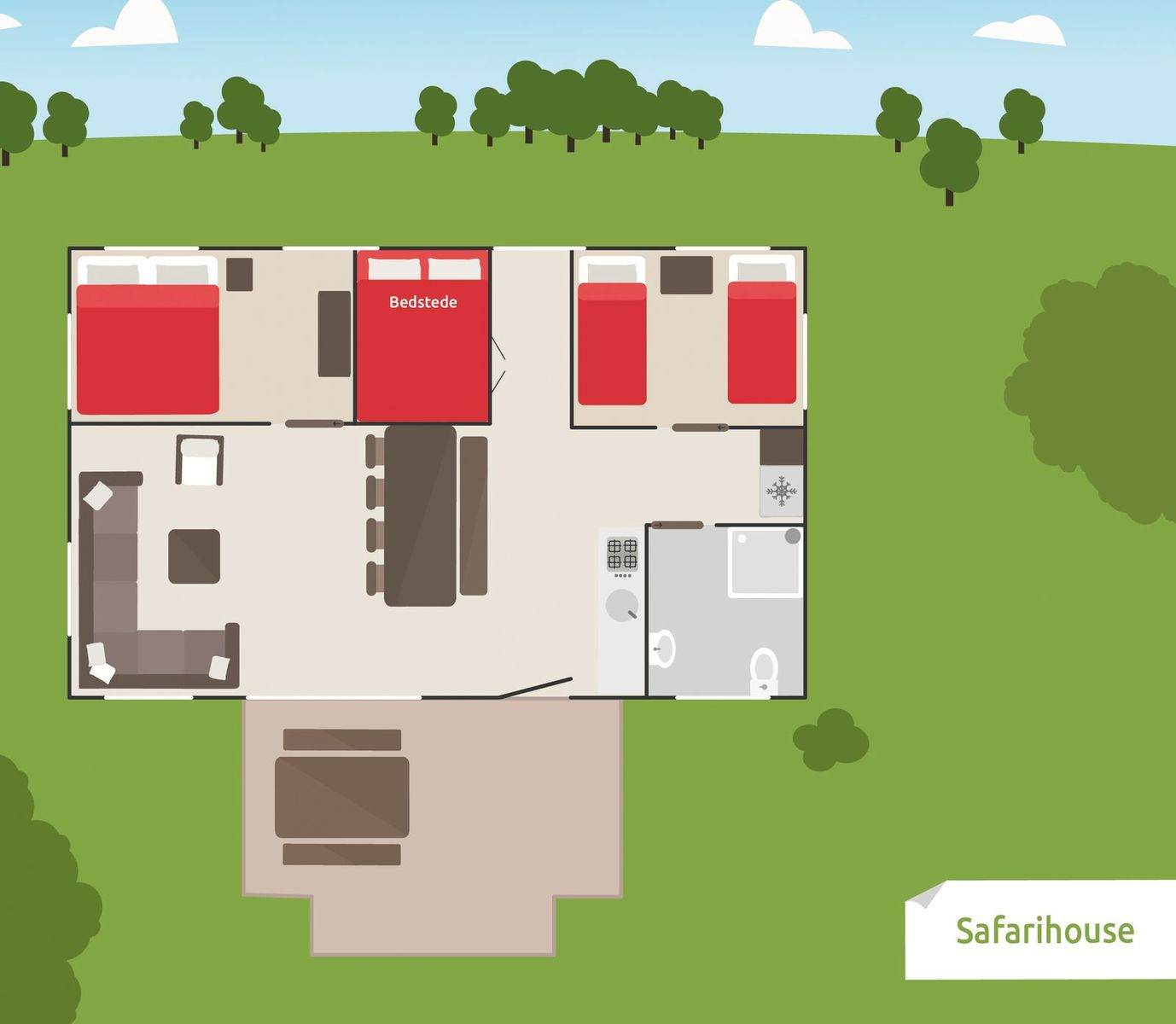 8-persoons Safarihouse