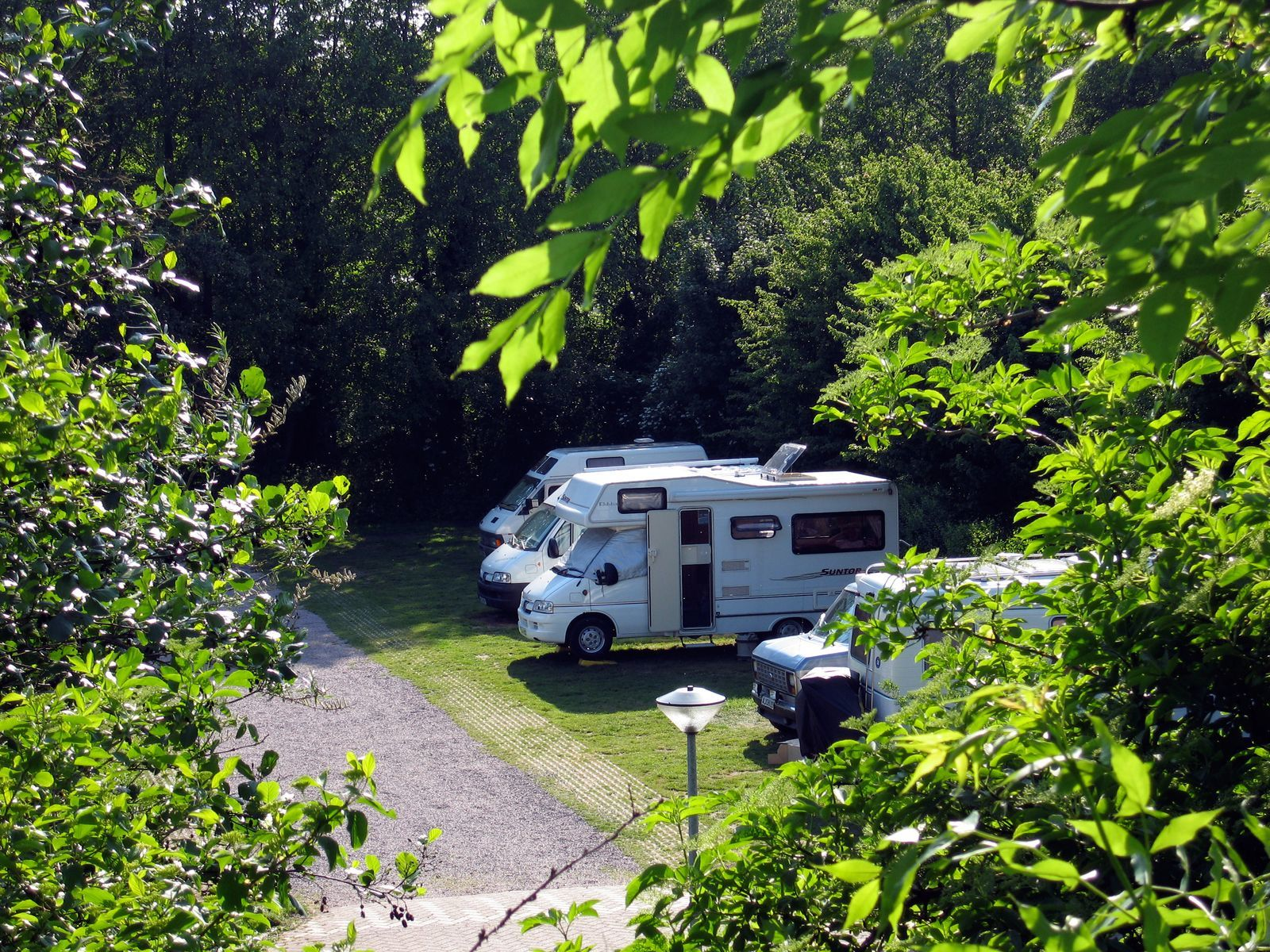 Motorhome/caravan pitches