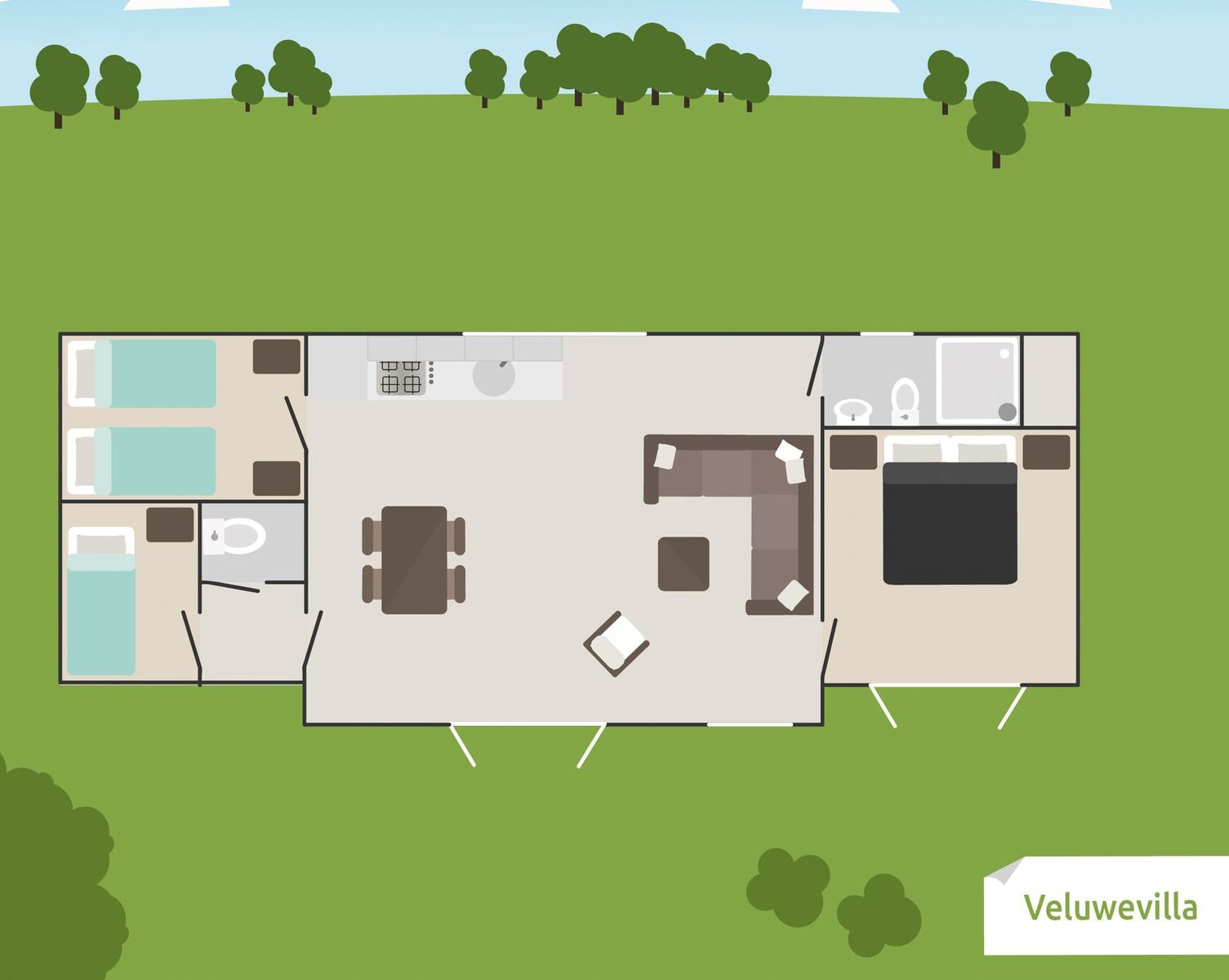 Veluwe-Villa für 6 Personen