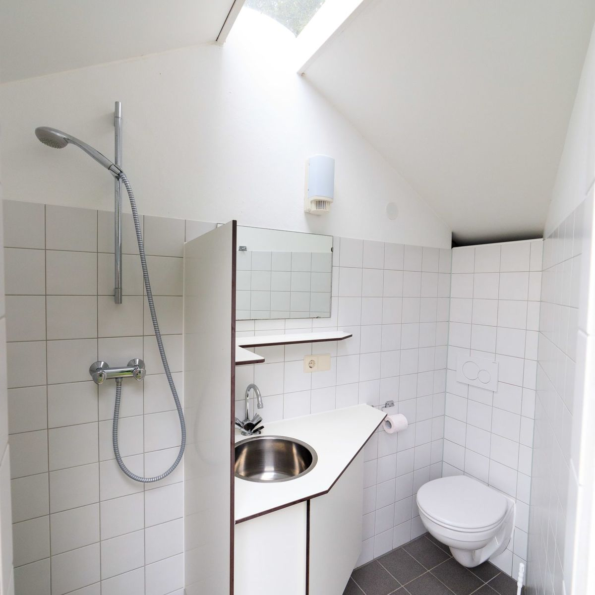 Comfort pitch with private bathroom.