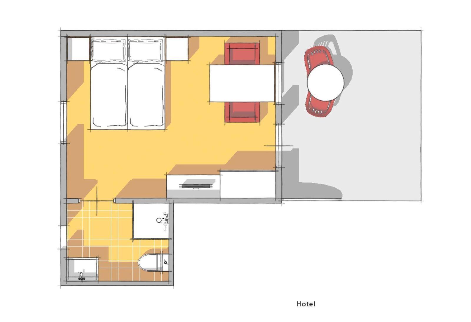 2-person Hotelroom