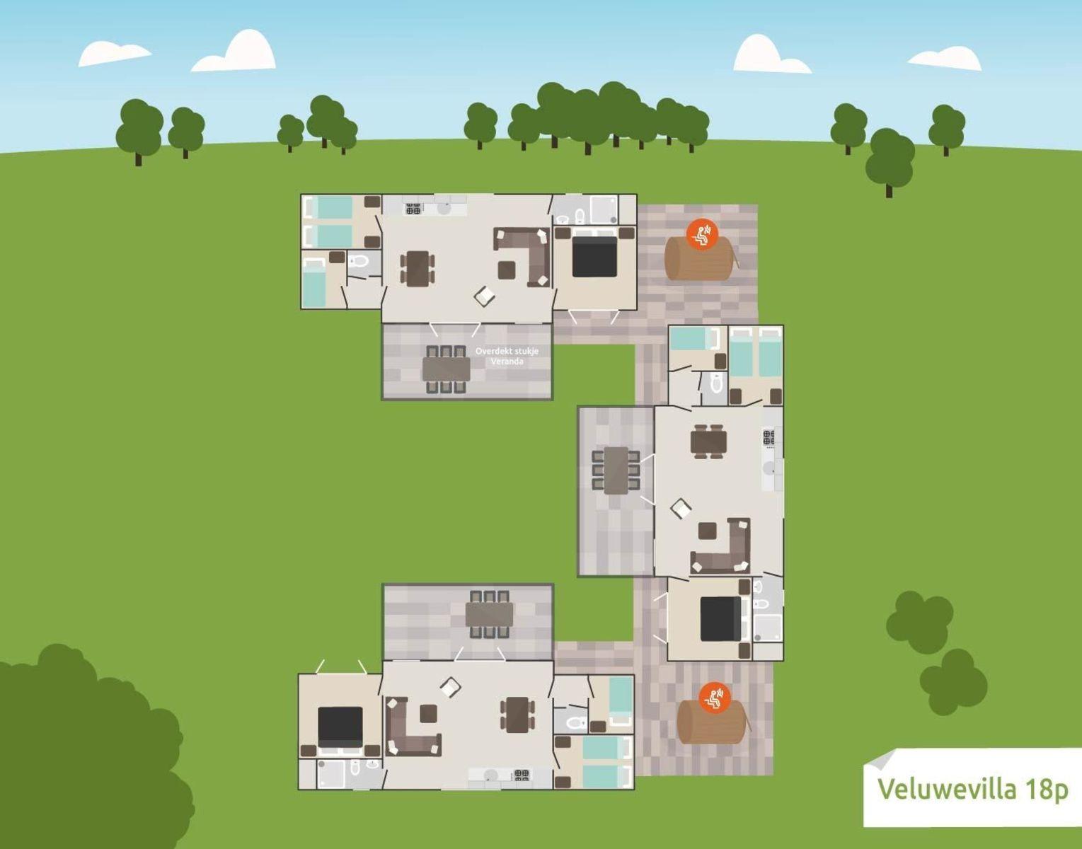 Veluwe-Villenviertel für 18 Personen