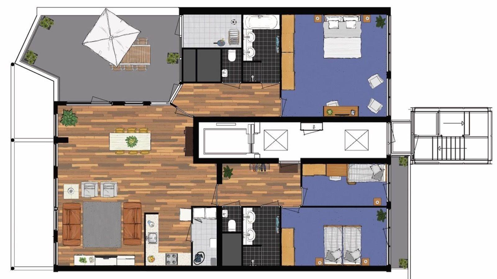 Penthouse 748 met zeezicht