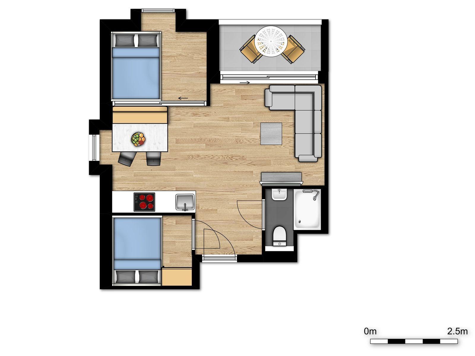 Comfort Suite - 4p | 2 Chambres à coucher